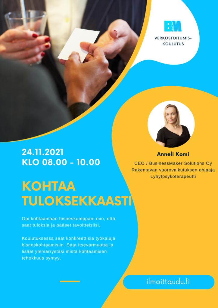 BusinessMaker koulutuspalvelut, verkostoituminen, Anneli Komi
