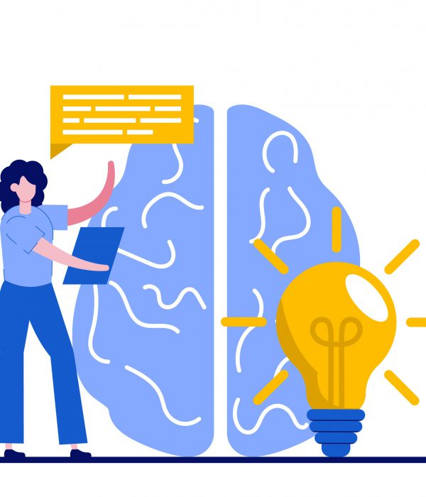 Innovative solution, cooperation, workflow concept with tiny people. Effective work abstract vector illustration set. Creative ideas generation, team building, productivity management metaphor.